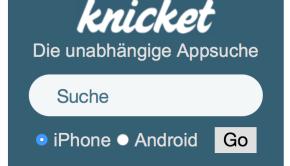 Knicket Homepage Widget